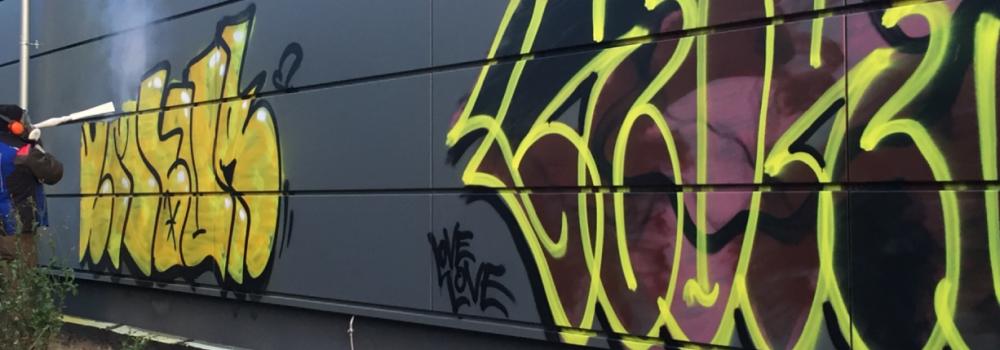 Graffiti Entfernung Vorher
